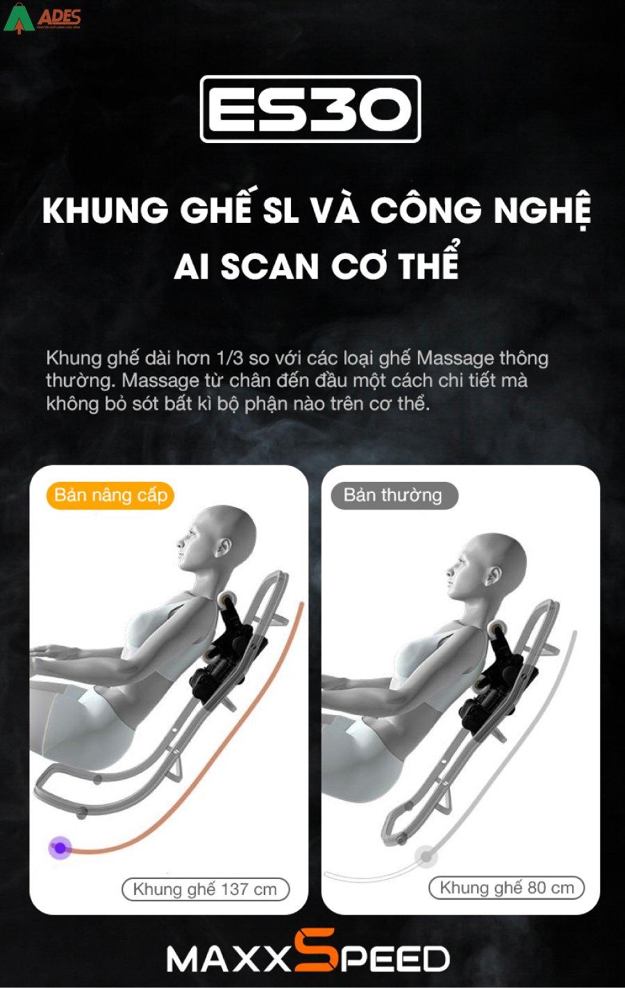 Ghe Massage Azaki Maxxspeed ES30 chat luong