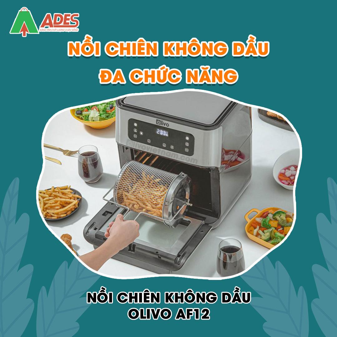 Noi Chien Khong Dau OLIVO AF 12 noi chien khong dau da chuc nang